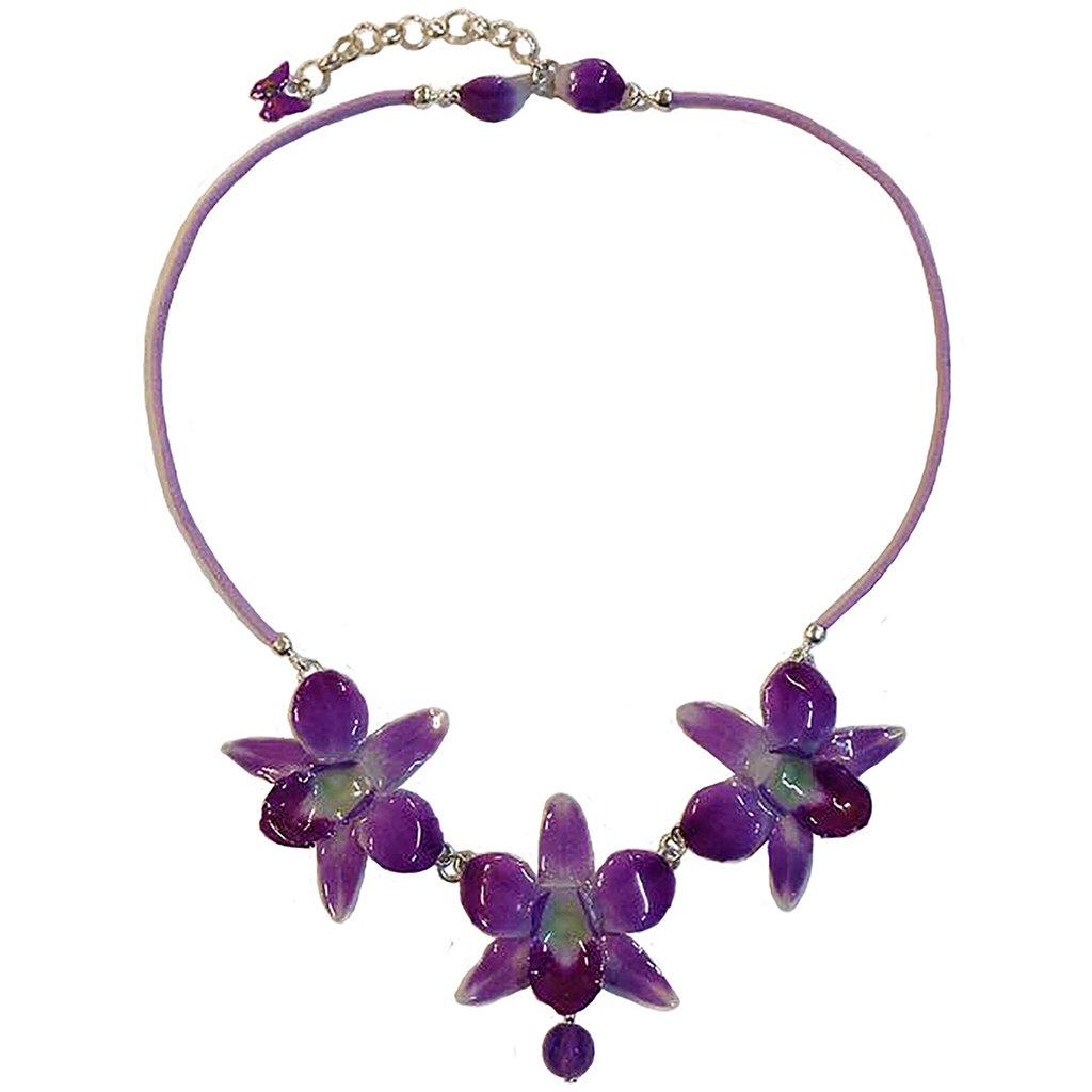 Collana con tre orchidee 01