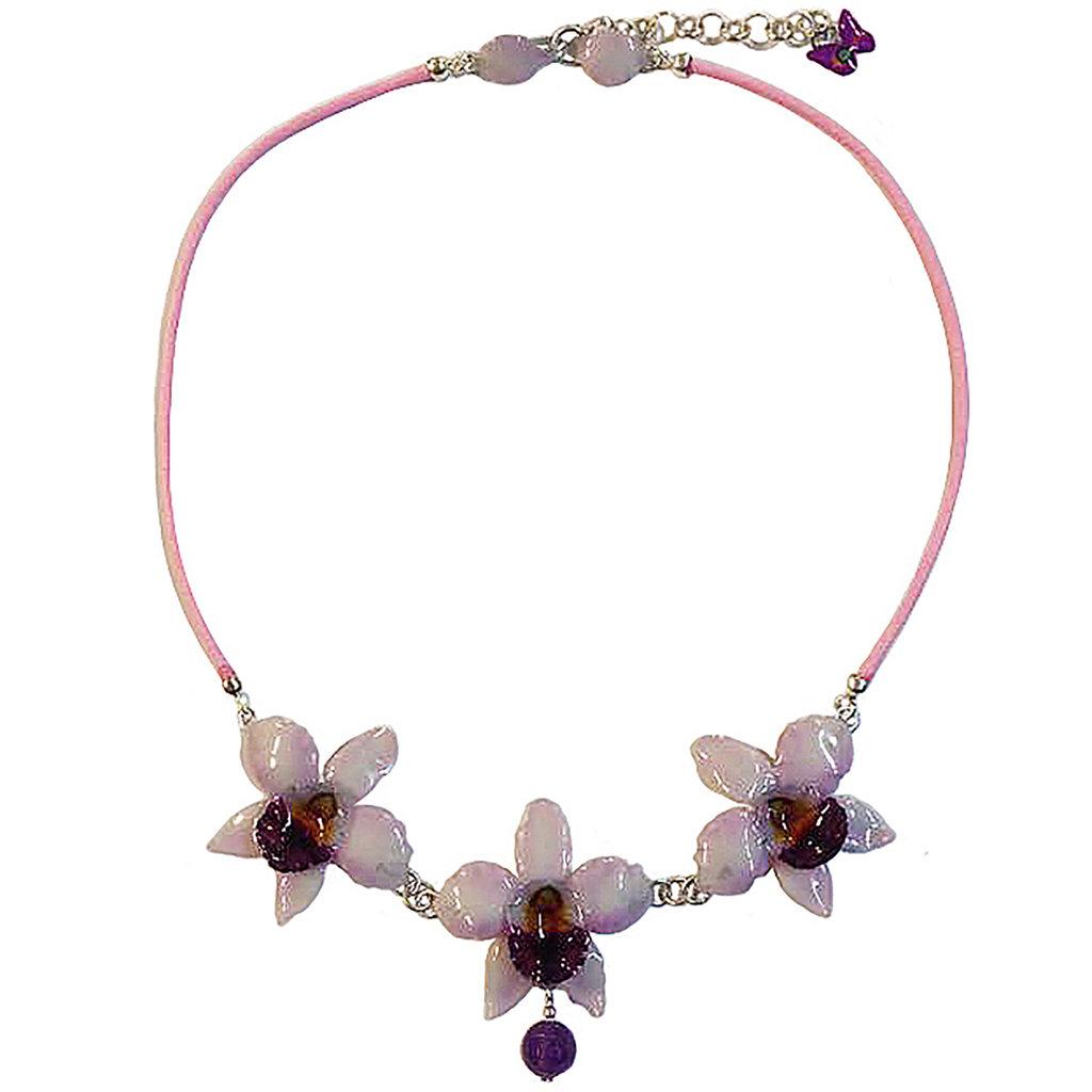 Collana con tre orchidee 02