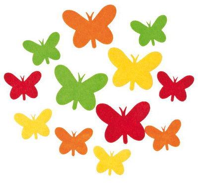 Mix 10 farfalle in feltro