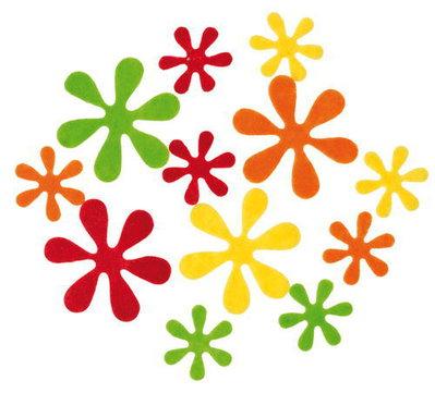 Mix 10 fiori in feltro