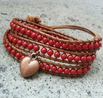 Bracciale stile Chan luu con perle Swarowski