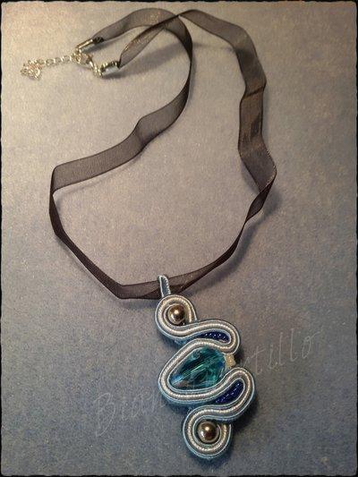 pendente sautache blu marine