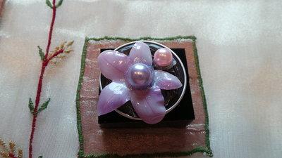 Anello piccolo fiore e perline