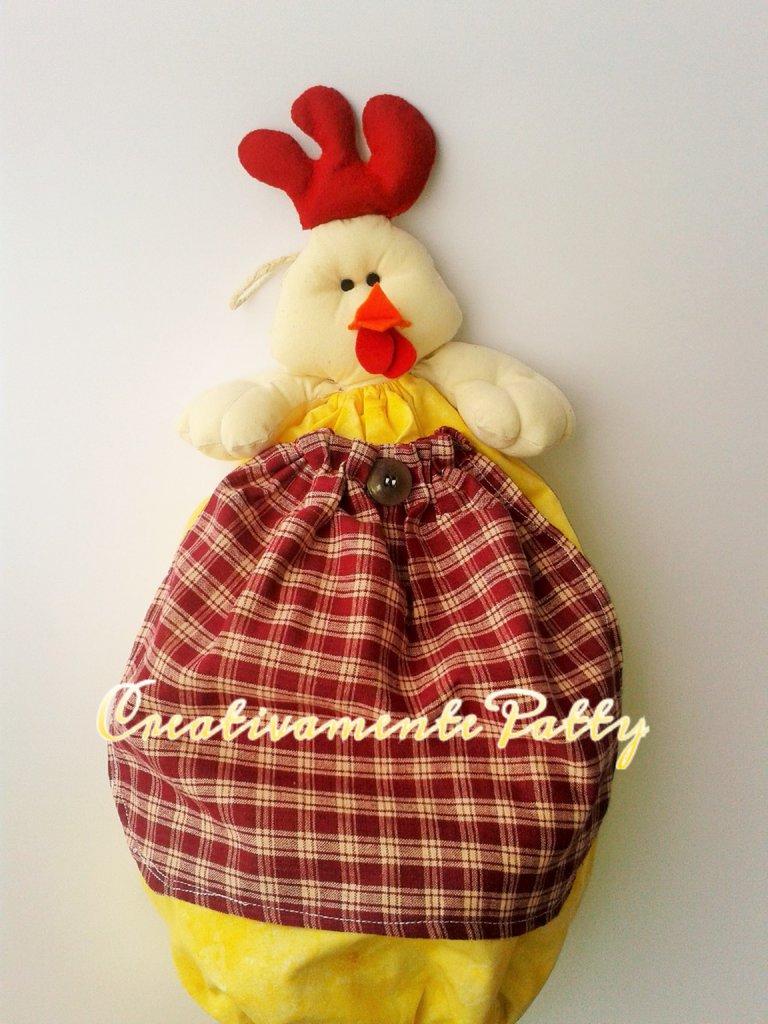 Gallina porta sacchetti per la casa e per te cucina - Porta sacchetti ...