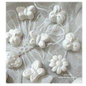 Gessetti gessi profumati- ape coccinella fiore farfalla bomboniera