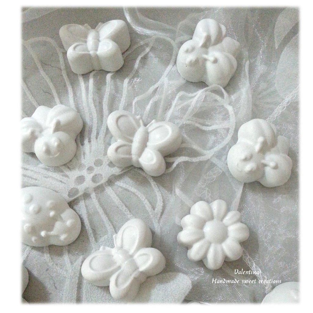 Ben noto Gessetti gessi profumati- ape coccinella fiore farfalla bomboniera  LB48