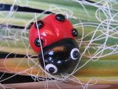 Coccinella portafortuna con magnete