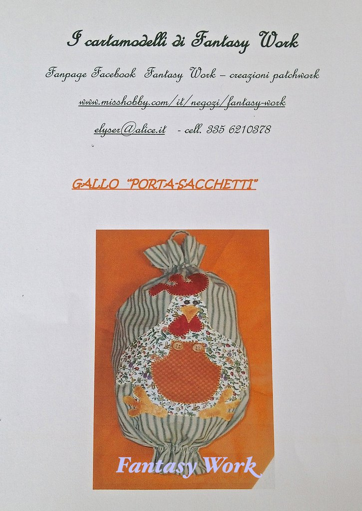 CARTAMODELLO PORTA SACCHETTI GALLO   VERSIONE PDF