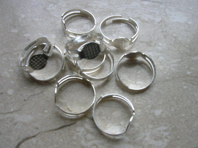 5 Basi anello mm.18 col. argento