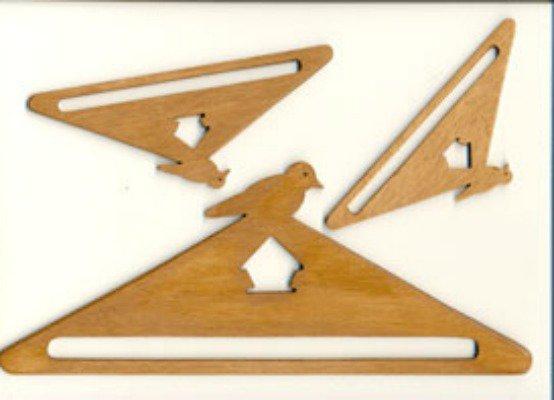 Appendino Accroche Legno Uccellino - cm 12