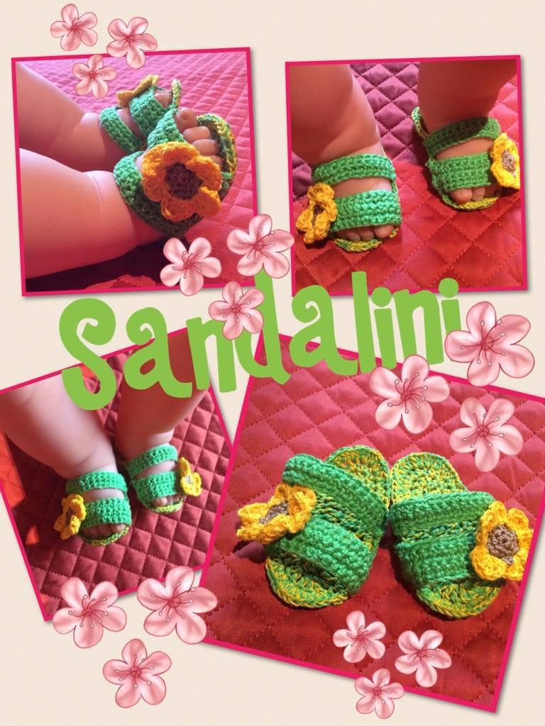 Sandali neonato a fascia