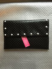 Pochette in ecopelle nera