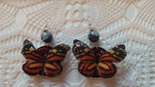 Orecchini farfalla arancioni