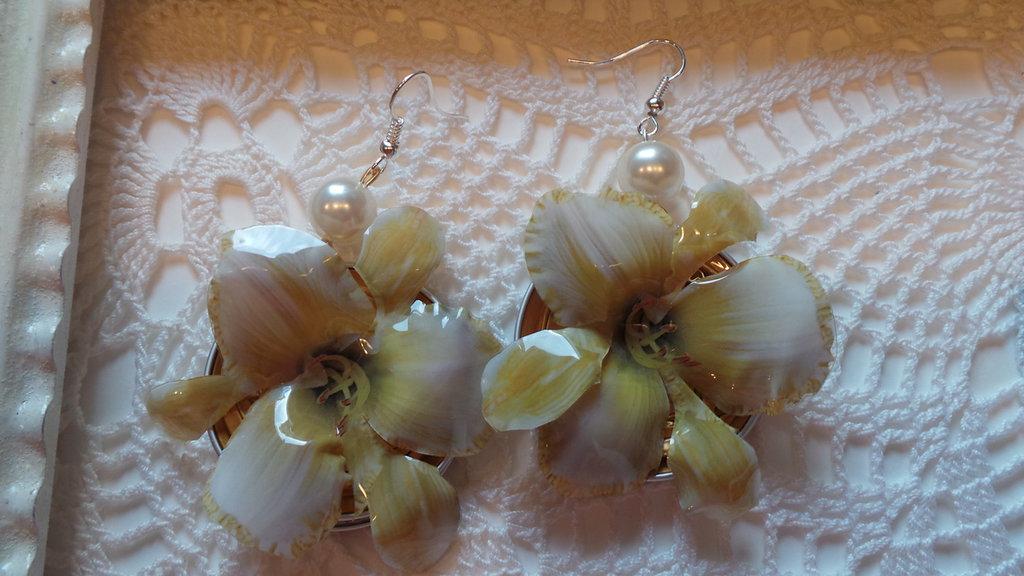 orchidee gialle con perla