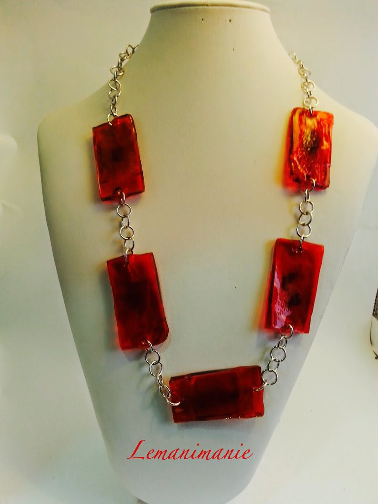 #Collana #resina #alluminio #Lemanimanie,