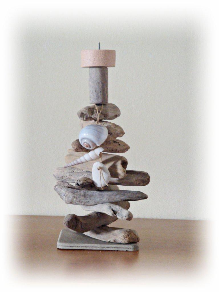 """Porta candela """"ATLANTICO"""" con legni di mare - Per la casa e per t...  su MissHobby"""
