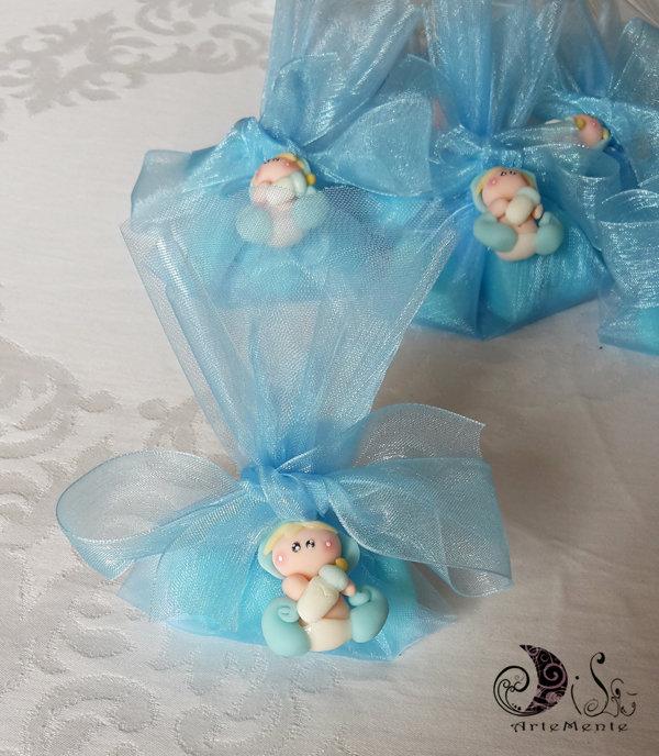 Bomboniere battesimo ciondoli folletti complete confetti
