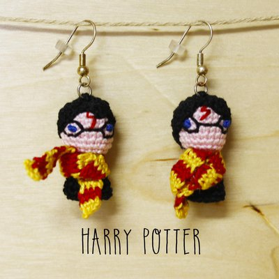 Orecchini uncinetto amigurumi Harry Potter