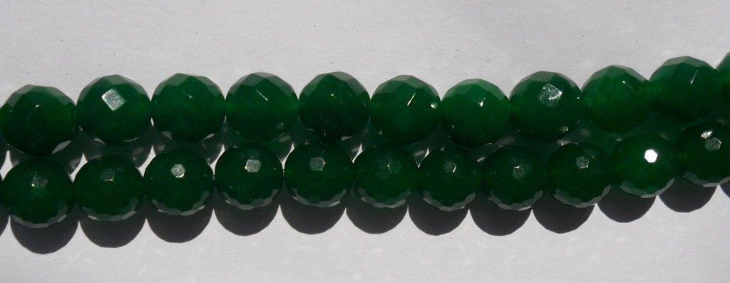 Agata verde smeraldo 10mm 6pz