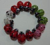 14 Perline Coccinelle Vetro 5 Colori
