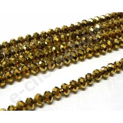 12 pz cristallo cinese cipollotti bronzo  metallizzato da 10 mm circa