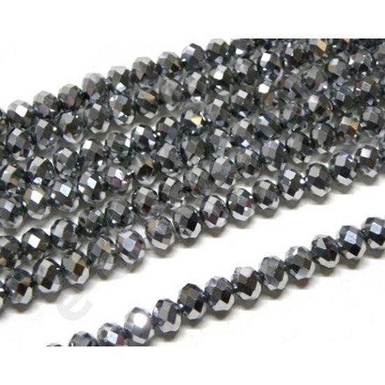 12 pz cristallo cinese cipollotti acciaio  metallizzato da 10 mm circa