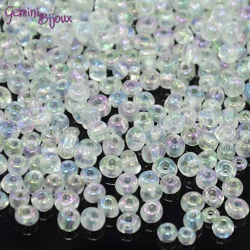 Conteria economica in vetro 4 mm, crystal rainbow, lotto da 50 grammi