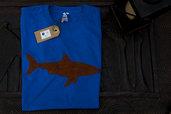 T-shirt 100% Organic SQUALO - Blu unisex (Taglia M)