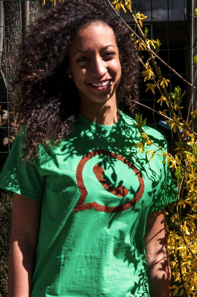 T-shirt 100% Organic WATS - Verde unisex (Taglia M)