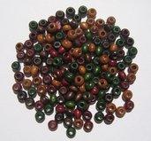 150pz Perline in legno colori della Terra