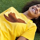 T-shirt 100% Organic TWITT - Giallo unisex (Taglia L)
