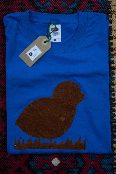 T-shirt 100% Organic PULCINO - Blu unisex (Taglia S)