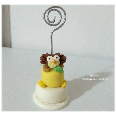 Mini cake segnaposto laurea Gufo