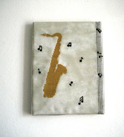 quadro tela sax
