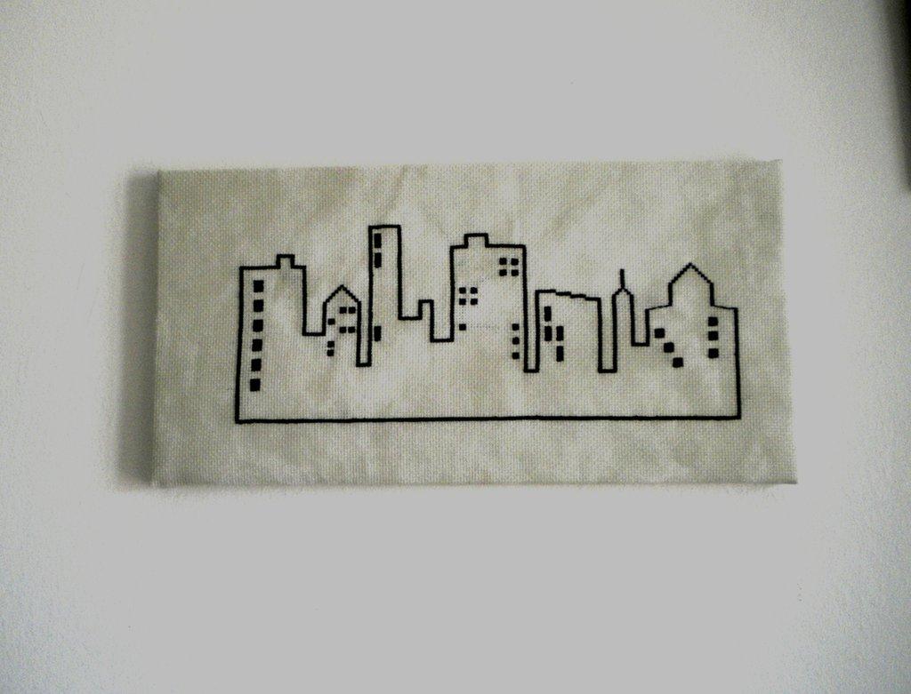 quadro tela skyline