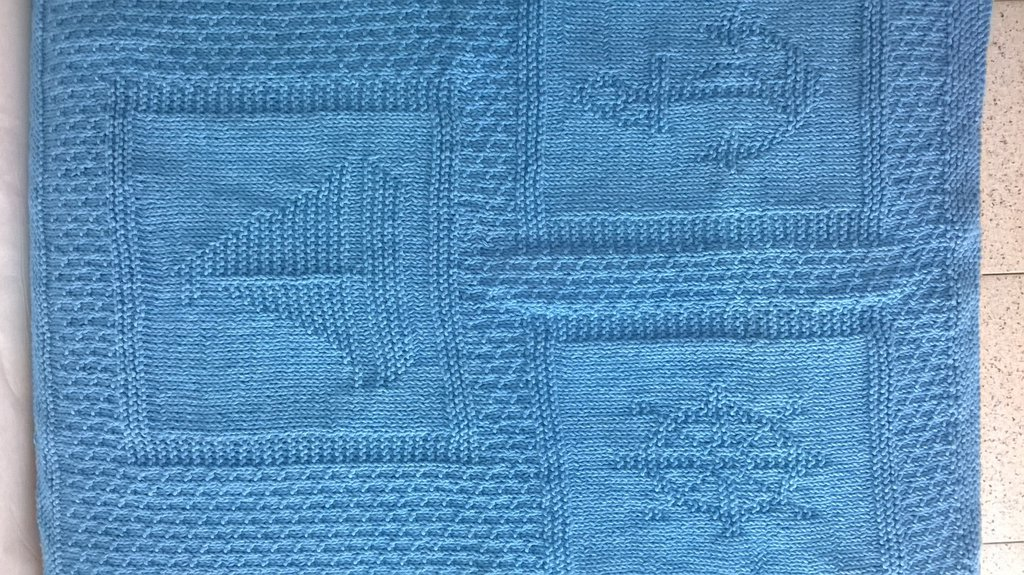 Copertina azzurra motivi marinari