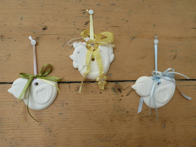 Idea bomboniera/addobbo profumato in polvere di ceramica