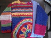 Cardigan di lana stile folk