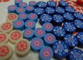 42 Perline Pasta Polimerica Fiorati