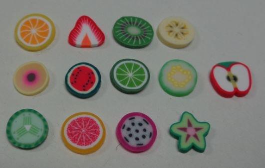 130 Fettine di Polymer clay Canes - DA MANGIARE