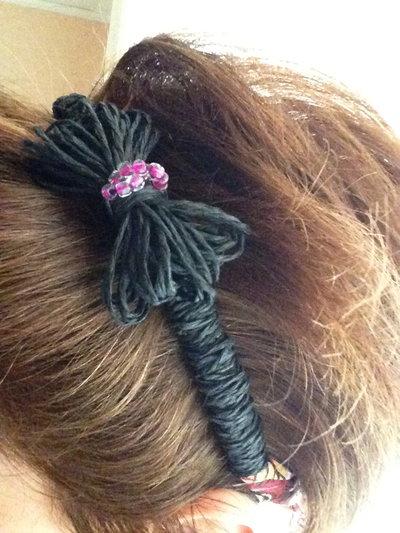 Cerchietto con foulard