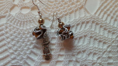 orecchini gufetto e cialda