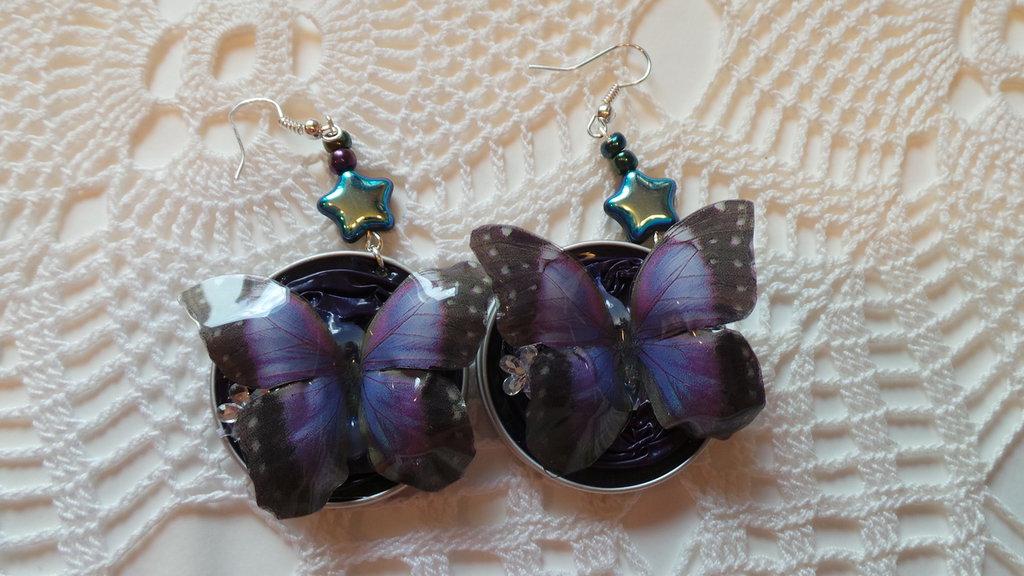 farfalle viola e stellina