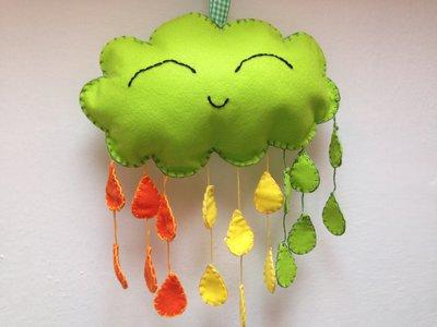 Nuvoletta in pannolenci verde