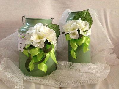 vaso latta grande e piccolo
