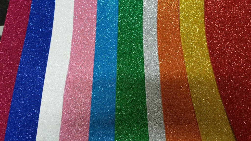 Lotto da 10 fogli  Gomma Crepla Glitter  Formato 40 cm * 60 cm