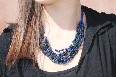 Collana Giudecca nero-blu