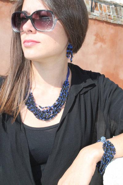 Parure Giudecca nero-blu