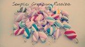 Ciondoli fimo marshmallow, realistico, lotto ciondoli , fatti a mano, ideali per orecchini e bracciali..