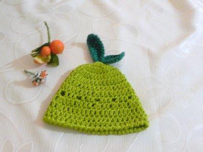 Cappellino mela verde bambini realizzato ad uncinetto in lana - Bam ... 1497266759cc